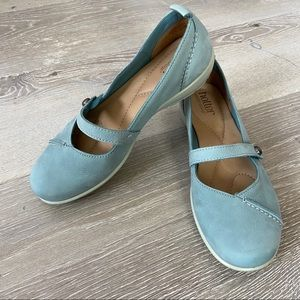 HOTTER Suede Light Baby Blue Mary Janes Size 6